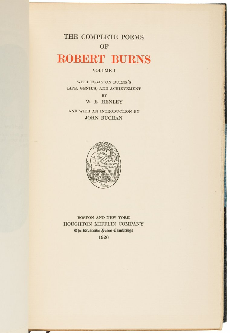Complete works of Robert Burns Finely bound - 2