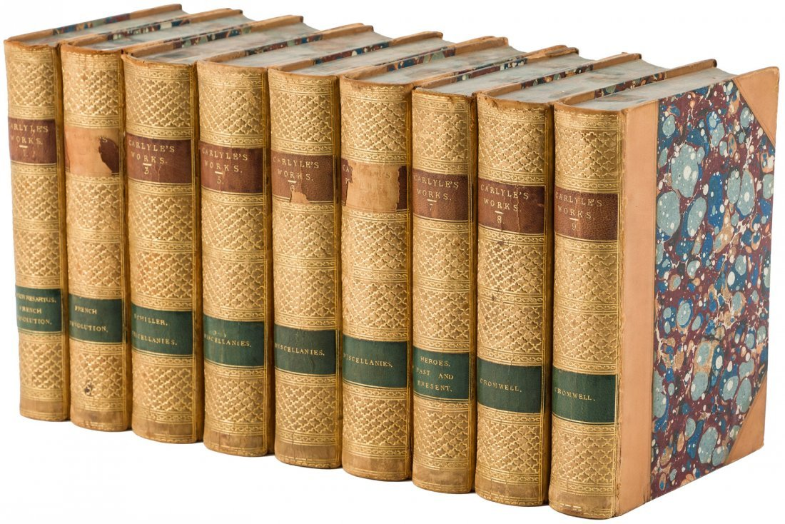 Works of Thomas Carlyle 18 leatherbound volumes