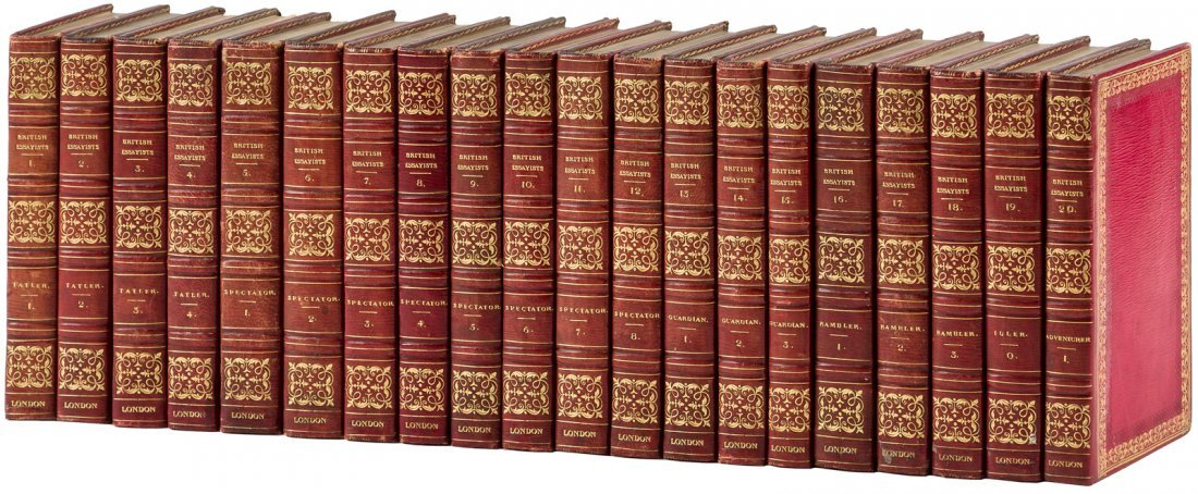 The British Essayists in 40 finely bound volumes