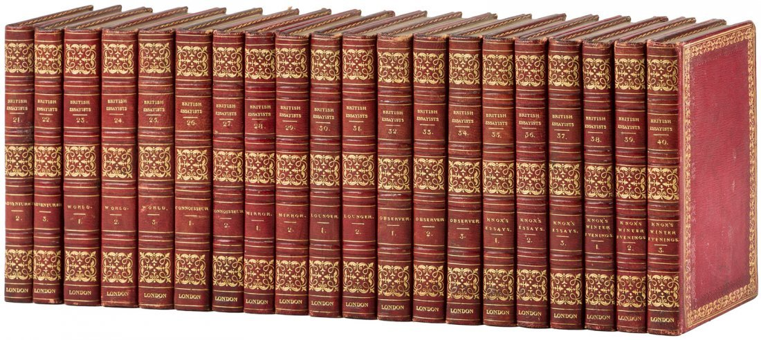 The British Essayists in 40 finely bound volumes - 2