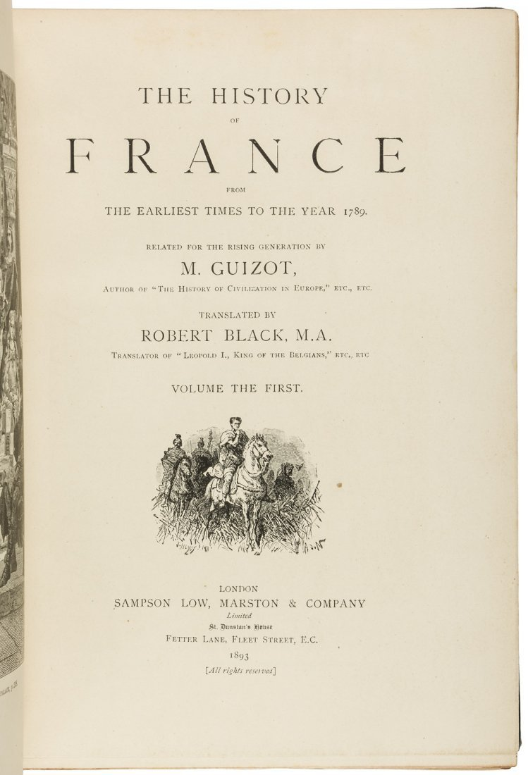 Guizot's History of France bound by Zaehnsdorf - 3
