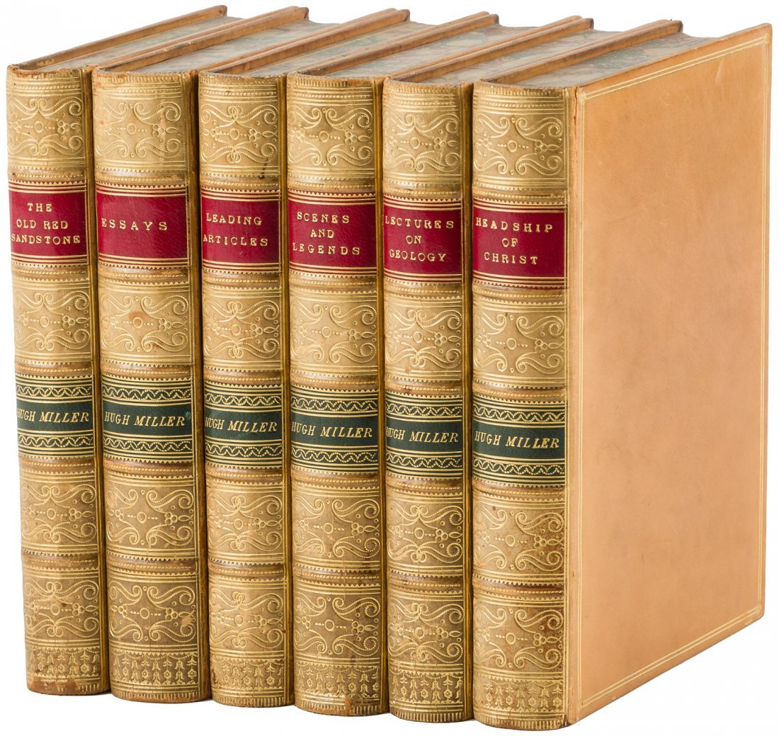 Six finely bound works by Hugh Miller