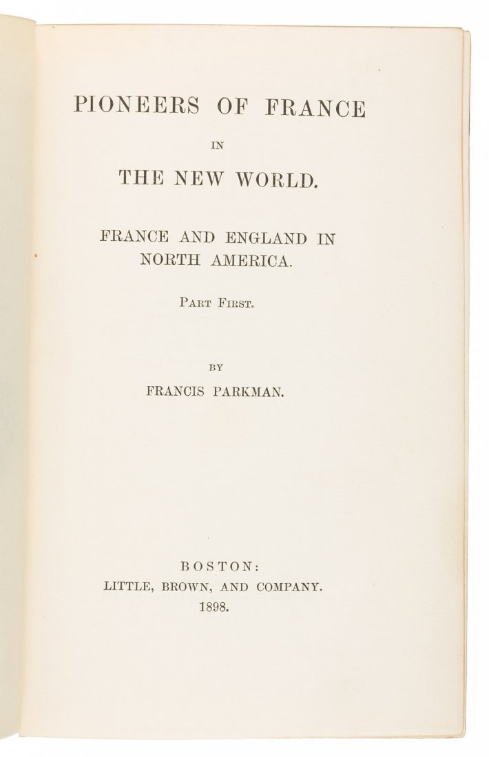 Francis Parkman's Works nicely bound - 2
