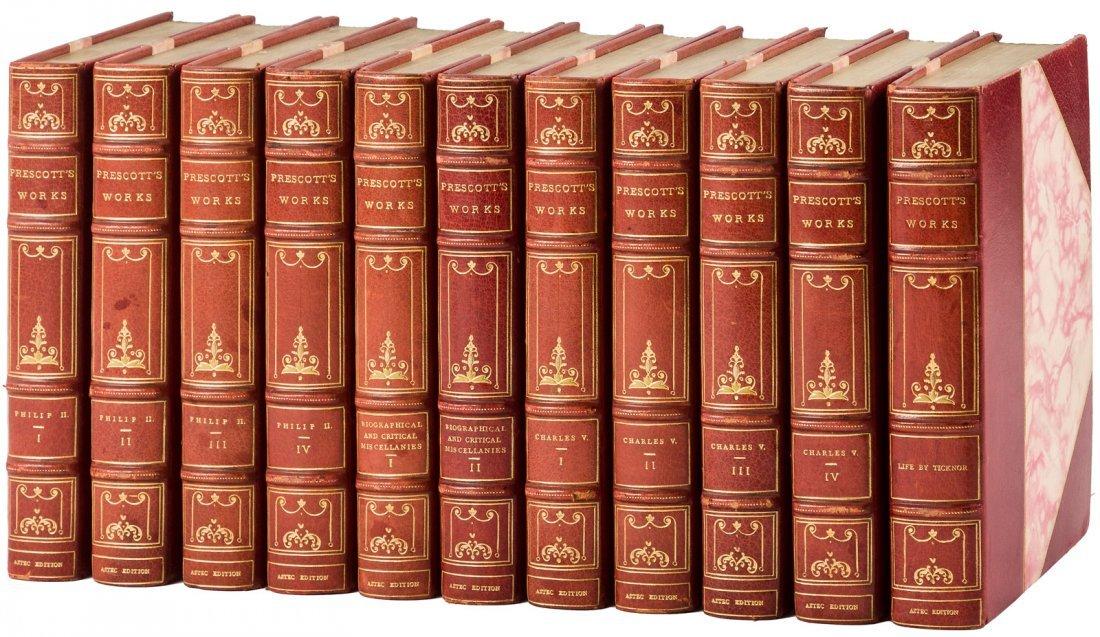 Works of W.H. Prescott finely bound