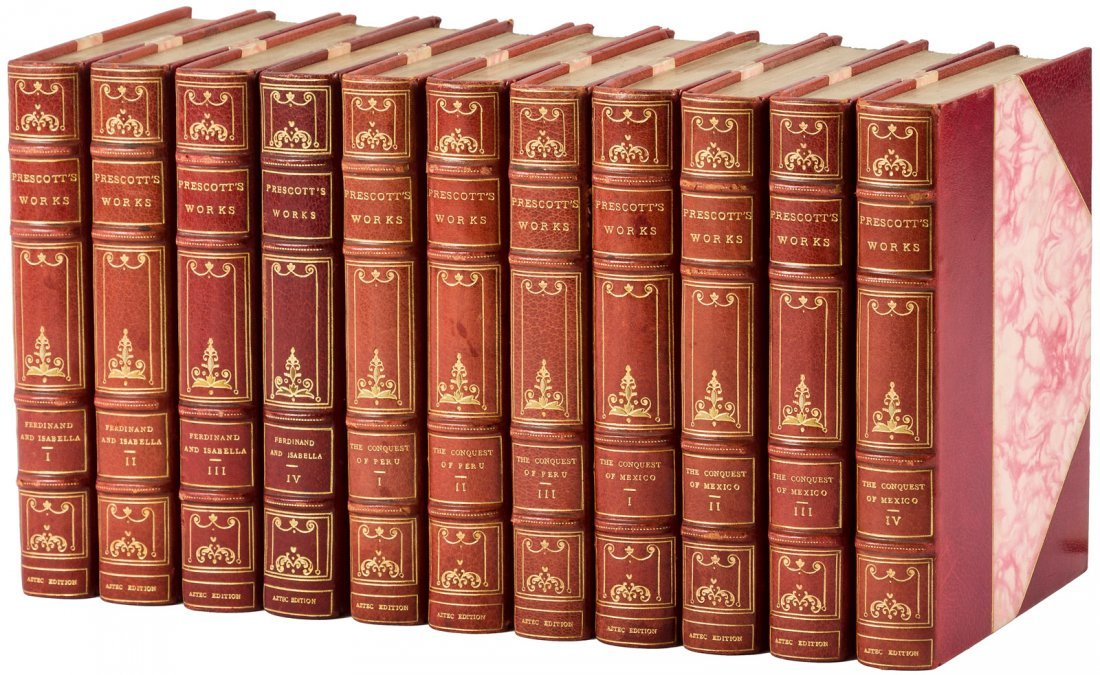 Works of W.H. Prescott finely bound - 2