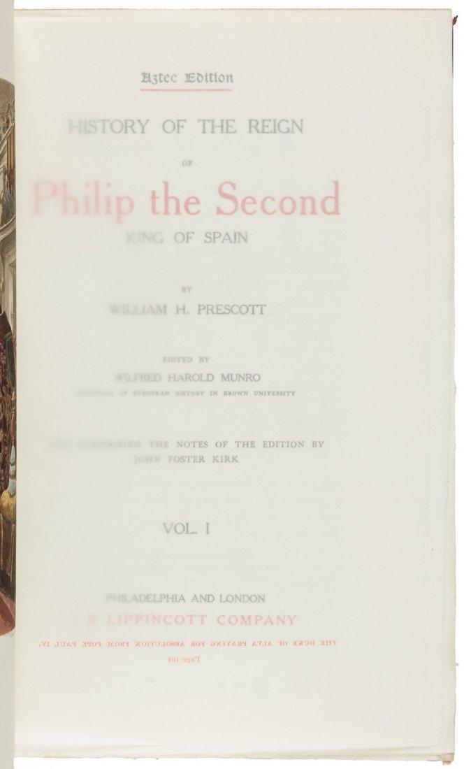 Works of W.H. Prescott finely bound - 3