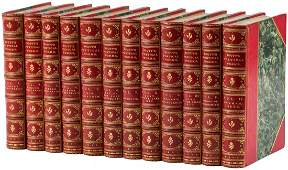 Scotts Poetical Works 12 finely bound volumes