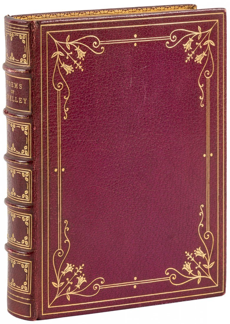 Poems of Shelley finely bound in full morocco