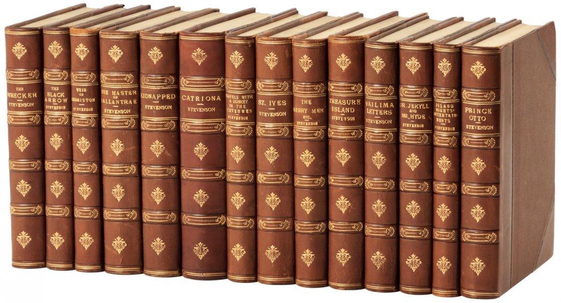 Works of R.L. Stevenson finely bound