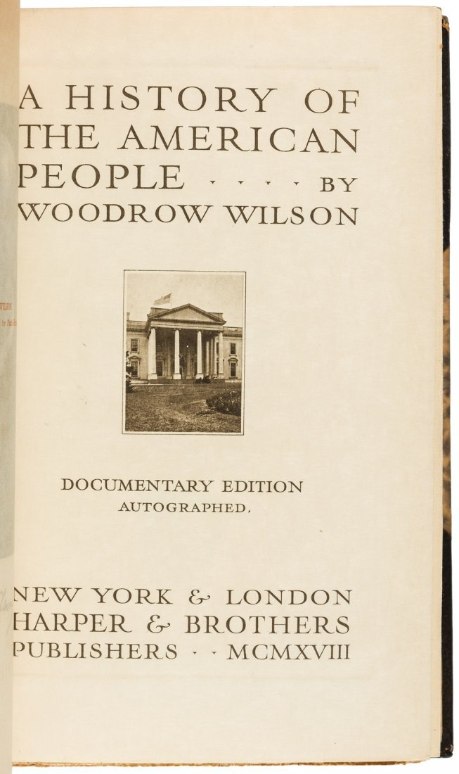 Wilson, A History of the American People, limited - 4