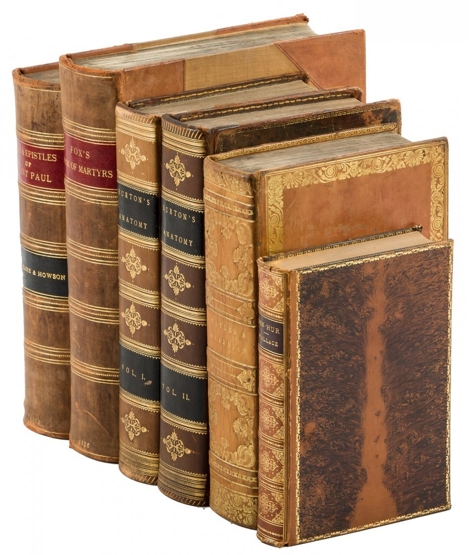 Five leatherbound works