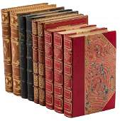 Nine finely bound volumes