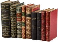 Nine finely bound volumes