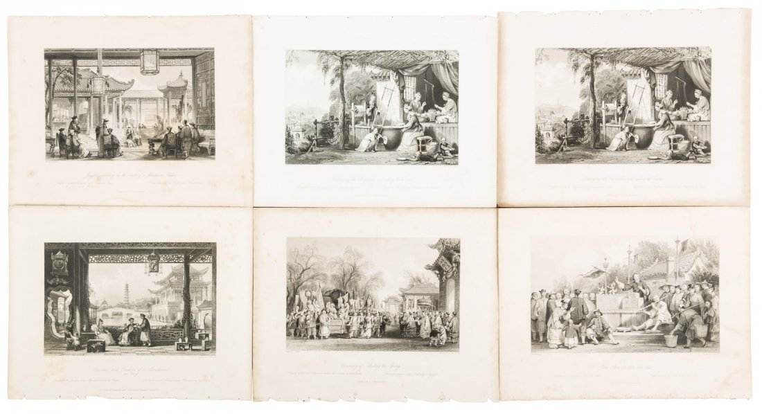 97 steel engravings of China by Thomas Allom