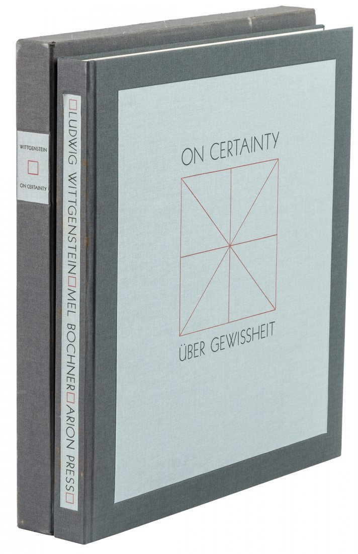 Ludwig Wittgenstein On Certainty Arion Press