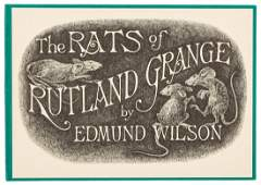 Rats of Rutland Grange 1 of 100 signed by Edward Gorey