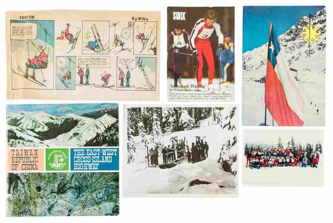 Large collection of skiing and mountaineering ephemera