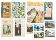 Collection of travel ephemera Canada & the West