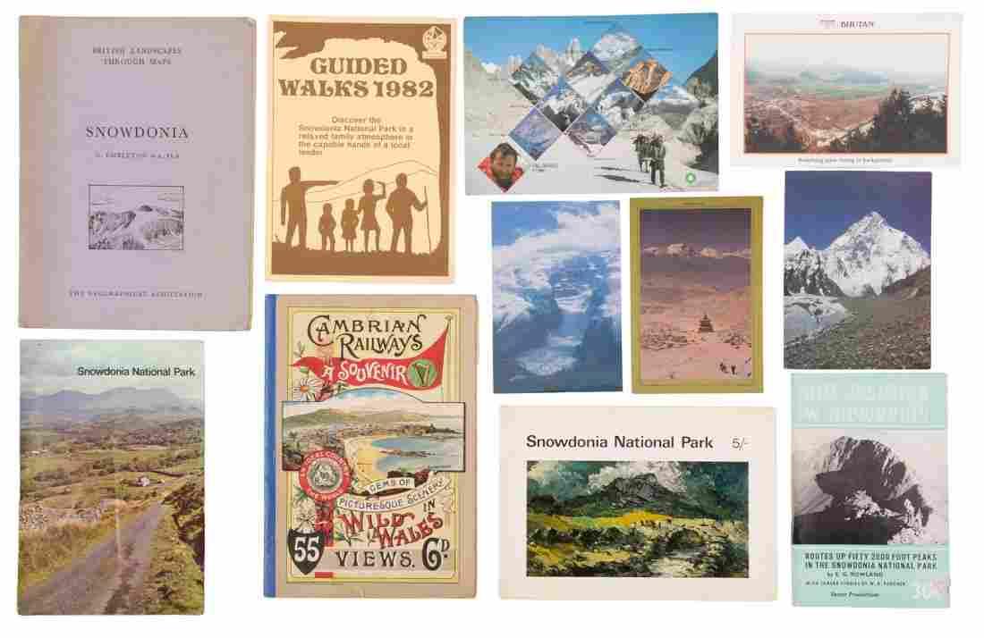 Box of European mountaineering ephemera
