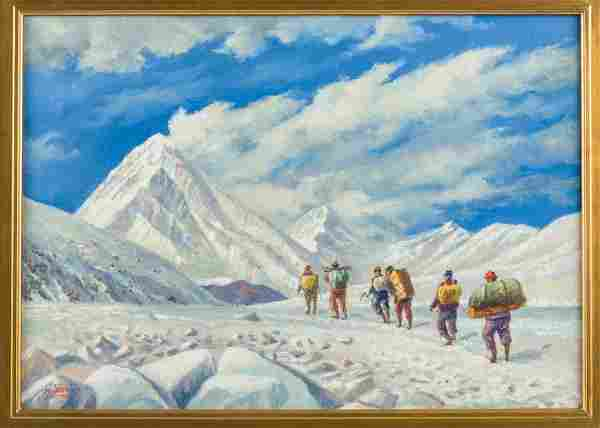 On the Way to Base Camp, original oil