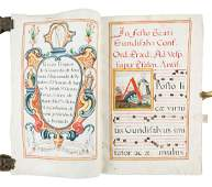Large vellum antiphonal leaves