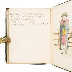 Manuscript Limericks & Drawings with Lear attbution