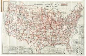 Road map of entire U.S. 1922