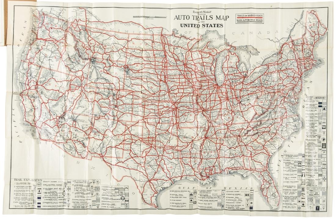 Map Of Entire US - Us map 1922