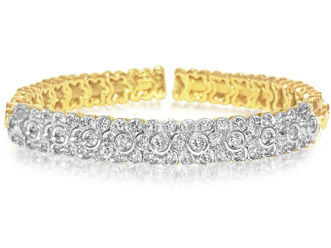 14K Yellow Gold, VS Diamond Bracelet/Bangle Sonia B