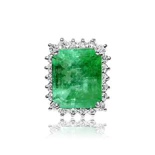 GIA Certified 100% Natural Colombian Emerald Diamond