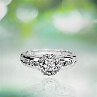 0.85 Carat Diamond White Gold Engagement Ring