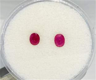 Natural Oval Cut, 1.60ct Loose Rubies.