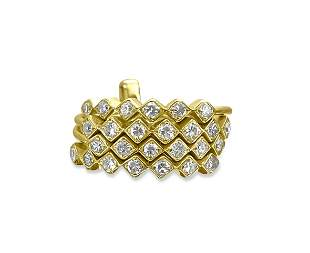 Vintage 1.00 Carat Diamond Stackable Ring in 14k Gold