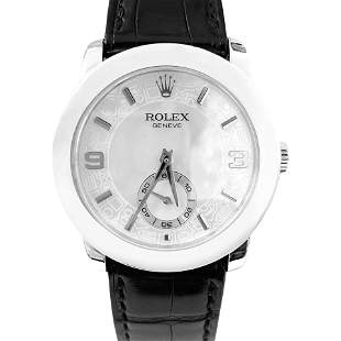 Rolex Cellini Platinum Mother of Pearl Mens Watch 5240