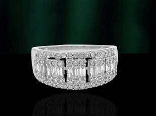 Womens, Vintage 1.35ct Diamonds in 14k White Gold Ring