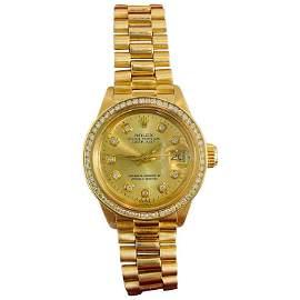 Rolex Oysterperpetual Datejust Diamond Bezel Watch