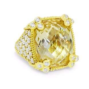 18K Gold, JUDITH RIPKA Diamond Ring