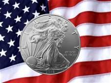 2019 USA Liberty American Eagle Fine Silver Coin.