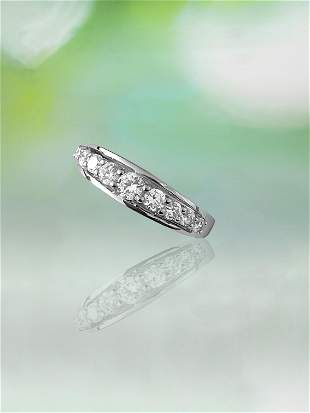 White Brilliant Cut Diamond & White Gold Ladies Ring