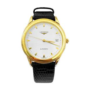 Longines Flagship Mens Automatic Watch 18K Gold. L46956