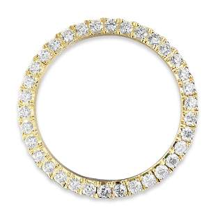 Rolex Bezel 4.50 Carat VVS Diamonds 14K Gold