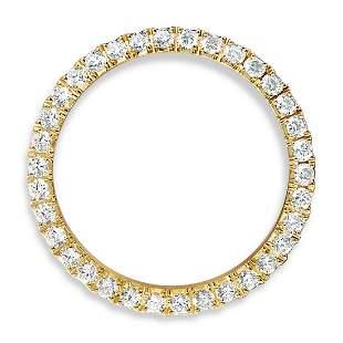 3.50 Carat VVS Diamond Rolex Bezel 14 Karat Yellow Gold