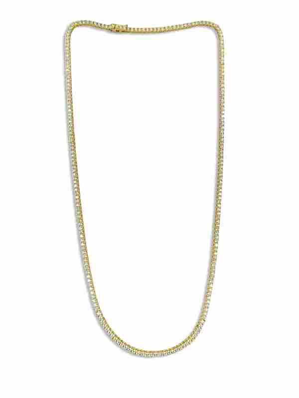 9.00 CT VVS Diamond Tennis Necklace Unisex