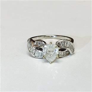 14k White Gold And 1.20 Carat Diamond Engagement Ring