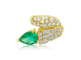 4.25ct Colombian Emerald & Diamond Ring in 14k Gold
