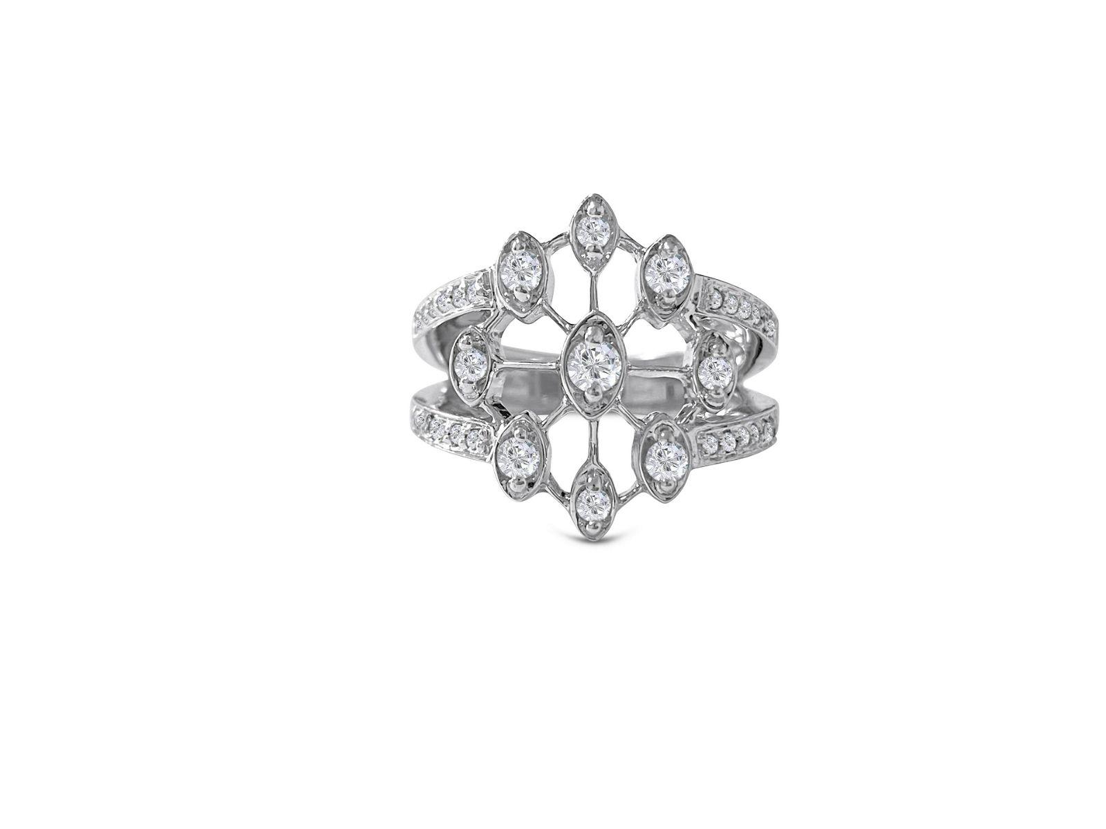 14k White Gold & 1.00 Carat Diamond Ring