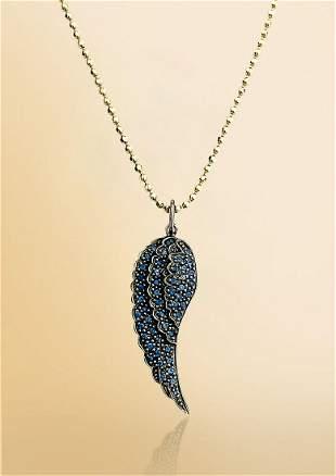 14k Gold & Blue Sapphire Necklace by Sydney Evan