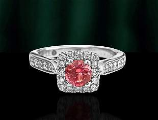Vintage, 1.20ct Tourmaline & Diamond Ring For Her
