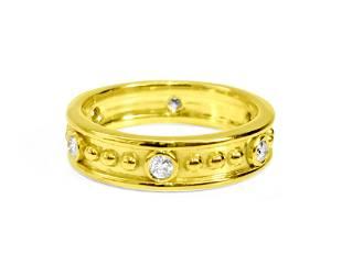 Fancy Style 0.48 Carat Natural Diamond Band 18K Gold