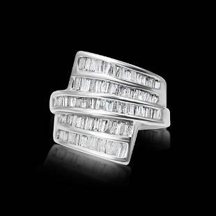 Ladies Superlative 3.00 CT Diamond & Gold Cocktail Ring